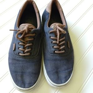 VANS | Chambray Canvas/Leather Sneaker Size 10.5